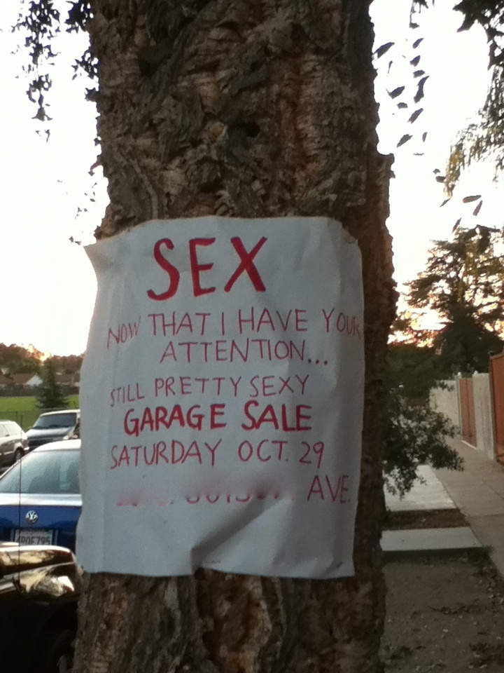 yard sale signs  the good  the bad and the ugly