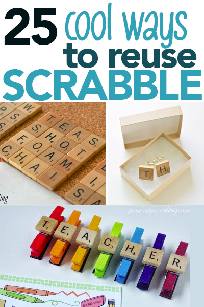 25 Super Cool Uses For Old Scrabble Games Pieces Garage